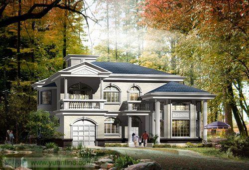 非常经典的别墅外观设计效果图
