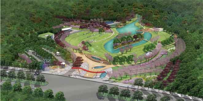 长沙桃花岭入口公园景观设计-景观规划