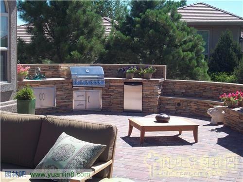 美国庭院景观-科罗拉多州平台庭院设计