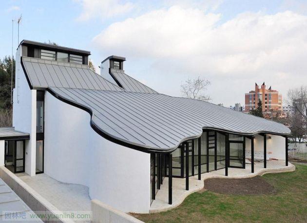 室外建筑手绘效果图_一组很NB的中式四合院建筑效果图-建筑设计_园林吧