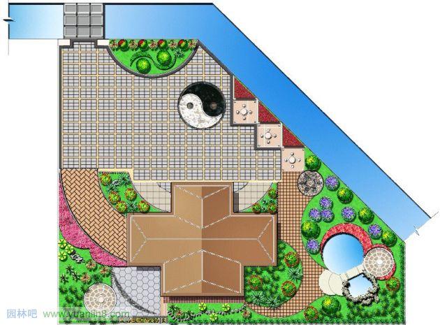竹子景观平面园林景观设计平面图景观平面图第2