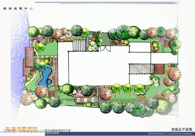 园林手绘效果图简单,园林设计手绘效果图,手绘景观效果图_点力图库
