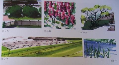 园林吧 园林手绘 > 马克笔的景观世界之景观元素的表现技法    图5.