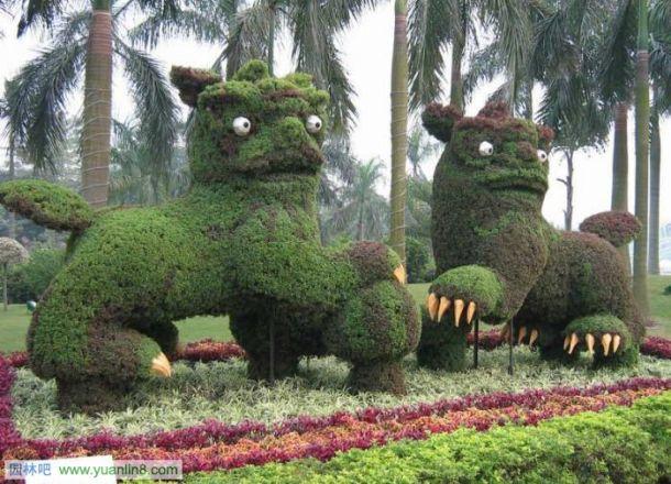 广州园林景观立体花坛实景2; 个体花坛的设计要点及设计图的制作(图例