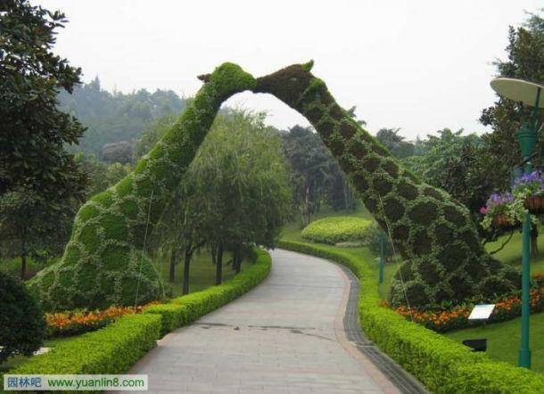 欧式喷泉花坛施工图