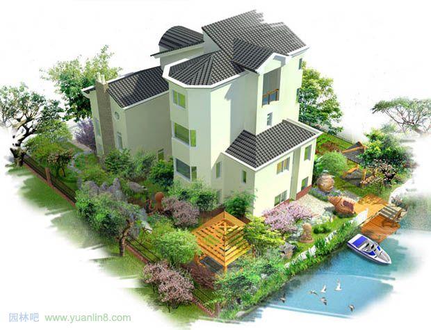 私家花园设计,私家庭院设计效果图 景观规划