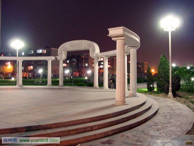 景观透视手绘效果图_河北经贸大学校园景观实景及规划设计总平面图-景观规划_园林吧