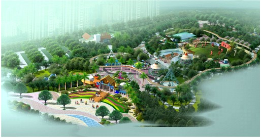 水上乐园卡通_综合公园中的儿童游戏场地设计-规划设计_园林吧