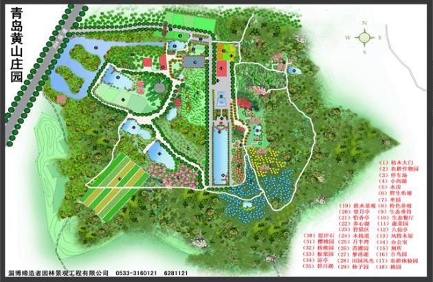 农业观光生态园规划平面图
