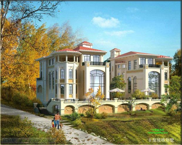 农村住区 农村别墅农村楼房设计效果图 规划设计 园林吧