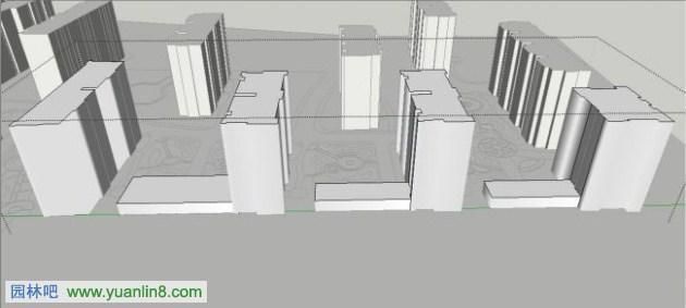 sketchup教程下载_[SU教程]景观模型中的建筑体块简单高效建模方法-SketchUp_园林吧