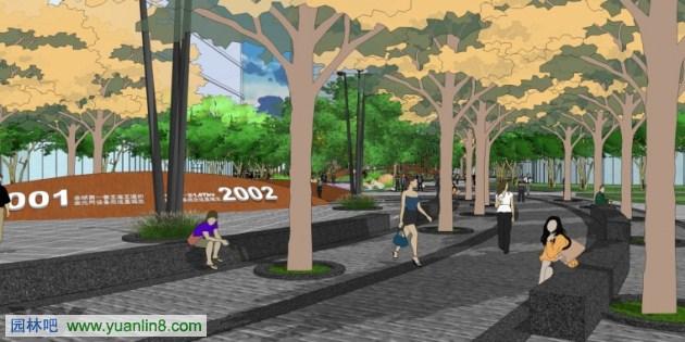 高科技产业园 景观sketchup设计方案