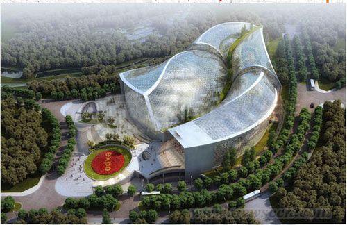 """青岛世园会植物馆规划 巨型""""玻璃伊甸园""""(附设计图)"""