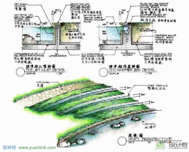 景观设计手绘图例