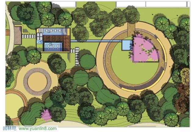 景观设计平面图的图片浏览   园林设计图 某 校园景观 规划绿