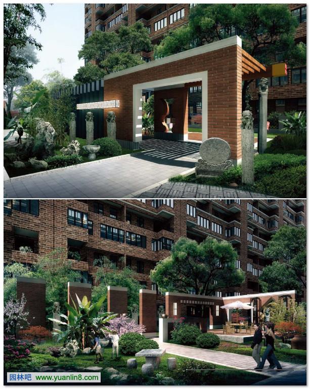 西安锦业76号别墅区景观规划