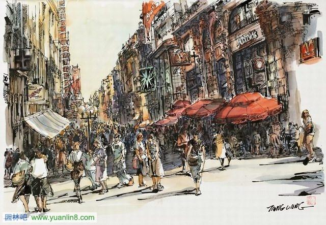 唐亮钢笔画(6.25-6.10)微博_世界名画与摄影_新; 唐亮钢笔画(6.25-6.