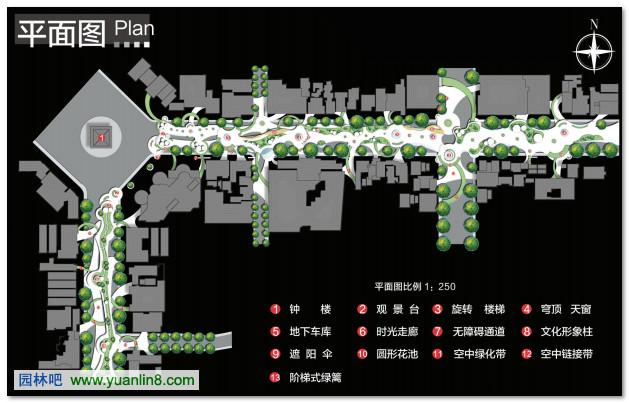 城市构想--复合功能型绿色通道空间设计