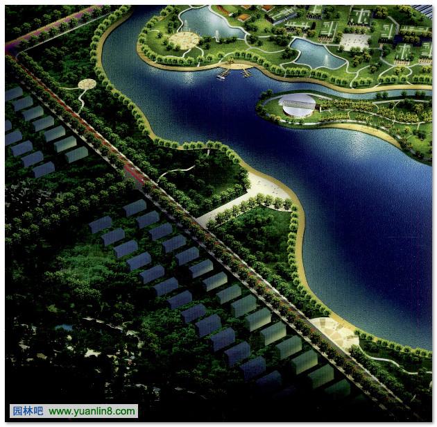 内蒙古锡林浩特锡林湖景观规划图片