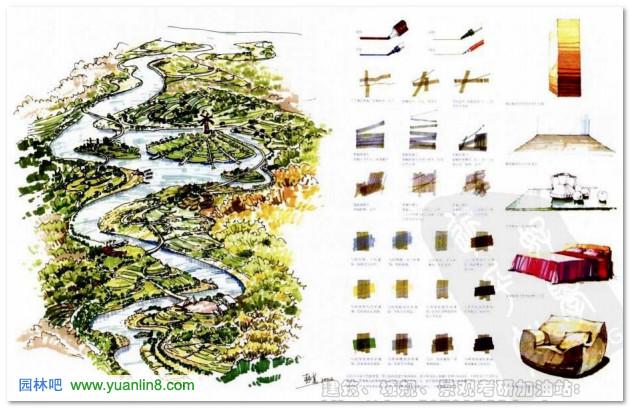 园林景观手绘初步:对绘图笔的认识和熟悉
