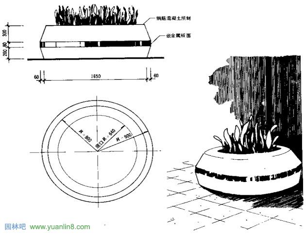 种植容器设计(多图)   > 园林(景观)小品之种植容器设计(多图)