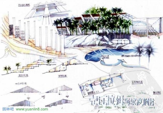 > 园林景观快题设计的训练--案例解读    快题设计的进行是从分析到