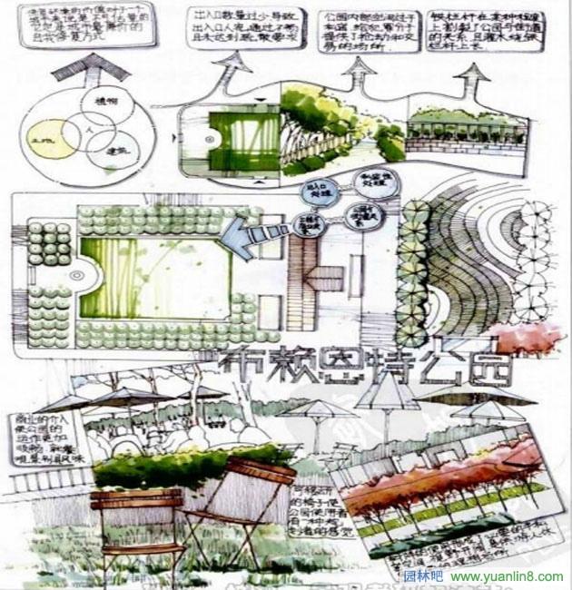 园林景观快题设计的训练--案例解读-手绘表现