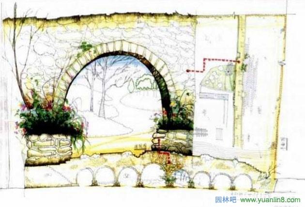 园林景观快题设计的训练--案例解读-手绘表现_园林吧