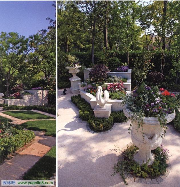 欧式别墅景观-景观规划_园林吧